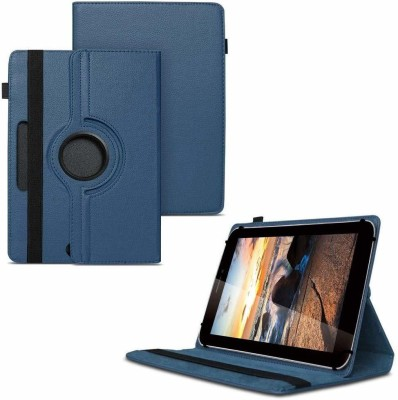 TGK Flip Cover for iBall Slide 3G Q7218 Tablet 7 inch, 8GB, Wi-Fi+3G+Voice Calling/ Rotating Stand Case(Blue, Cases with Holder)