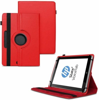 TGK Flip Cover for HP Slate 7 VoiceTab Tablet (WiFi, 3G, Voice Calling) 7 inch / Rotating Stand Case(Red, Cases with Holder)