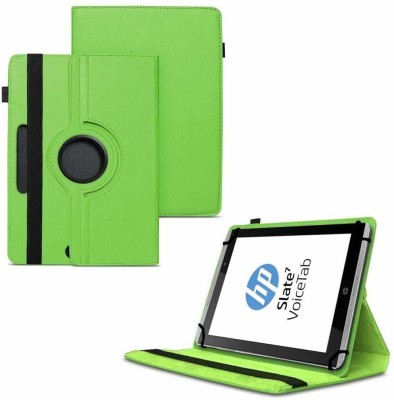 TGK Flip Cover for HP Slate 7 VoiceTab Tablet (WiFi, 3G, Voice Calling) 7 inch / Rotating Stand Case(Green, Cases with Holder)
