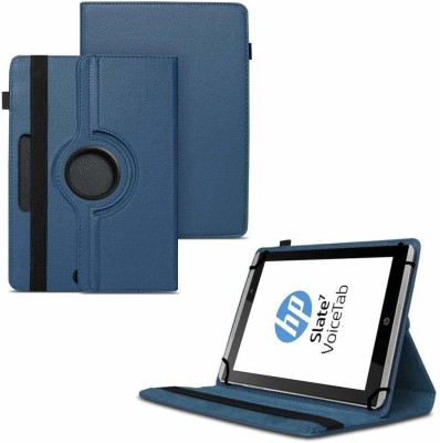 TGK Flip Cover for HP Slate 7 VoiceTab Tablet (WiFi, 3G, Voice Calling) 7 inch / Rotating Stand Case(Blue, Cases with Holder)