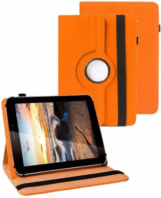 TGK Flip Cover for iBall Slide 3G Q7218 Tablet(Orange, Cases with Holder)