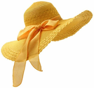 Futurekart Sun Hat(Yellow, Pack of 1)
