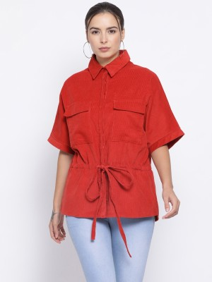 Oxolloxo Half Sleeve Self Design Women Jacket