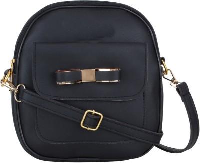 Punto Uno Black Sling Bag Pithu Bag For Girls Punto Uno Bags, Wallets   Belts