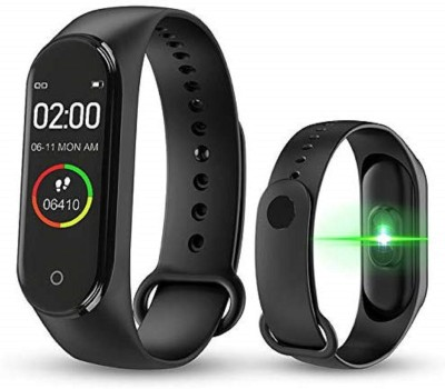 MARCRAZY M4 Smart Watch with IP67 Waterproof(Black Strap, Size : FREE)