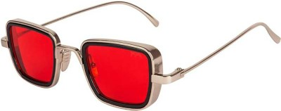 Trendy Glasses Retro Square Sunglasses(Red)