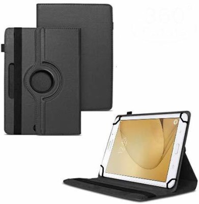 TGK Flip Cover for Samsung Galaxy Tab A 8 GB 7 inch with Wi-Fi+4G Tablet / Rotating Leather Stand Case(Black, Cases with Holder)