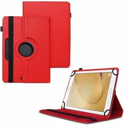 TGK Flip Cover for Samsung Galaxy Tab A 8 GB 7 inch with Wi-Fi+4G Tablet / Rotating Leather Stand Case(Red, Cases with Holder)