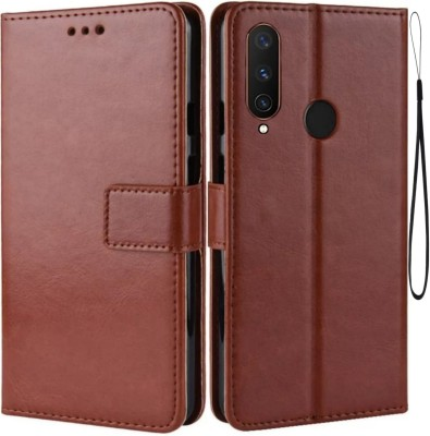 iPaky Flip Cover for Vivo Y15, Vivo 1901(Brown, Maroon, Cases with Holder)