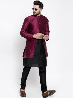 ABH Lifestyle Men Ethnic Jacket, Kurta and Churidar Set