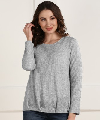 Allen Solly Full Sleeve Self Design Women Sweatshirt