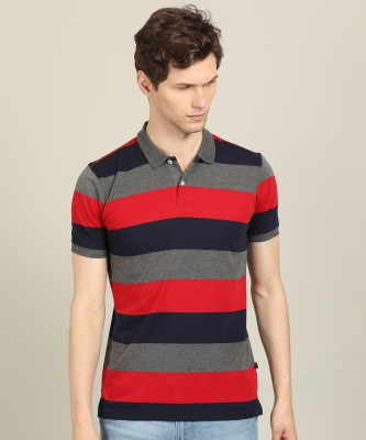 The Dry State Striped Men & Women Round Neck Multicolor T-Shirt(Pack of 2)
