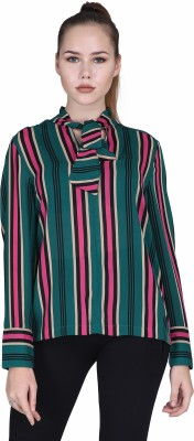 MansiCollections Casual Full Sleeve Striped Women Multicolor Top