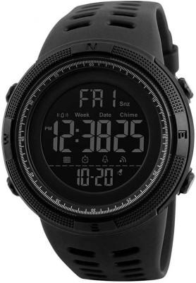 Edith 1251-SKMEI Black Sport Multi function Digital WATER PROOF Watch 1251 Digital Watch  - For Boys & Girls
