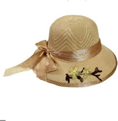 Toica STYLISH HATS FOR TRAVELLING AND SUN HAT & CAPS FOR WOMEN & GIRL ABOVE 17 YEARS OLD(Cream, Pack of 1)