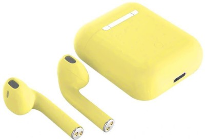 CHG INPOD 12 Earbuds ultra-small size Bluetooth Headset 24 Bluetooth Headset(Yellow, True Wireless)