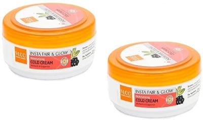VLCC Fair and Glow Moistorizing Cold Cream Set of 2(150 g)