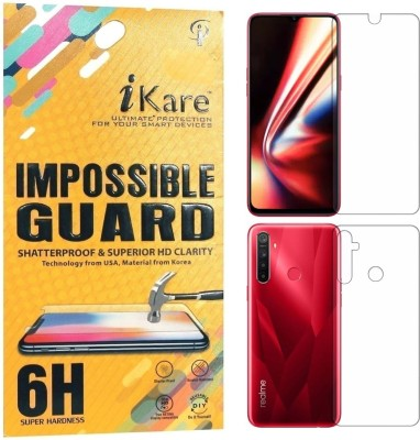 iKare Front and Back Screen Guard for Realme 5, Realme 5s, Realme 5i(Pack of 2)