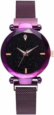 Feston Buckle Starry sky Watches For girls Fashion Purple Lady Casual Analog Watch  - For Girls