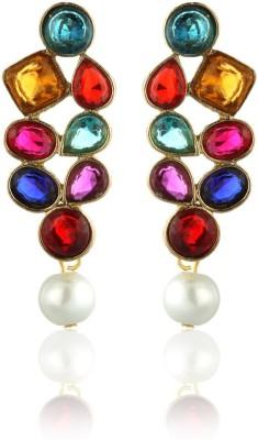 ZAVERI PEARLS Designer Alloy Drops   Danglers ZAVERI PEARLS Earrings