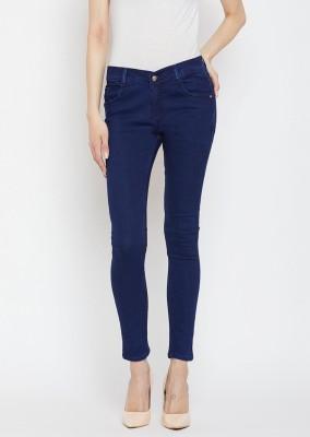 Crease   Clips Slim Women Blue Jeans