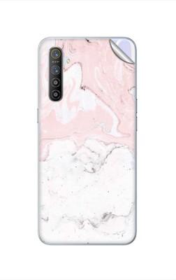 GADGETSWRAP GWAC-1400 Printed Pink White Marble Realme XT Mobile Skin(Multicolor)