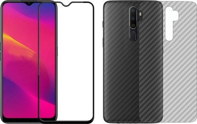 Karpine Front and Back Screen Guard for Realme Narzo 20, Realme Narzo 20A, Realme C11, Realme C12, Realme C15, Realme C3, Realme 5, Realme 5i, Realme 5s, Oppo A9 2020, Oppo A5 2020, Realme Narzo 10, Realme Narzo 10A, Oppo A31(Pack of 2)