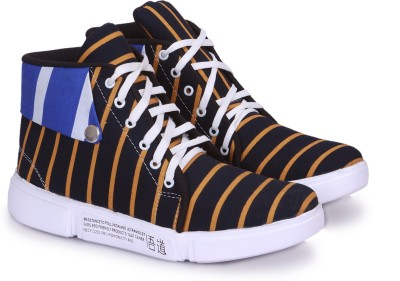 lonsdale london men mid ankle canvas shoes blue Collections