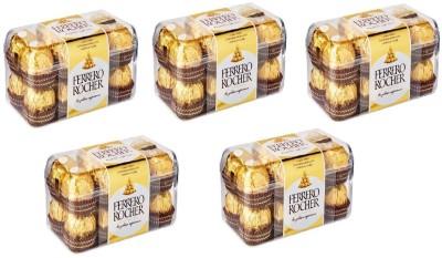 Ferrero Rocher Pack Of 16 Chocolates ( Set Of 5 ) Bars(5 x 1 Units)