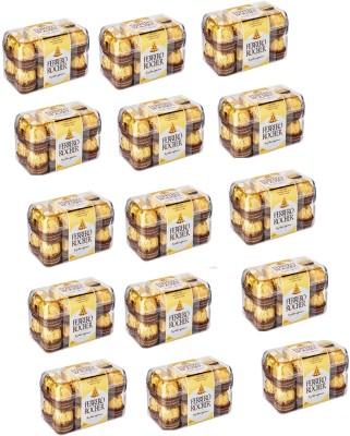 Ferrero Rocher Pack Of 16 Chocolates ( Set Of 15 ) Bars(15 x 1 Units)