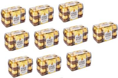Ferrero Rocher Pack Of 16 Chocolates ( Set Of 10 ) Bars(10 x 1 Units)