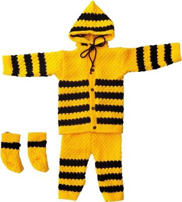 Customary Baby Boys & Baby Girls Casual Sweater Pyjama, Mitten(Yellow)
