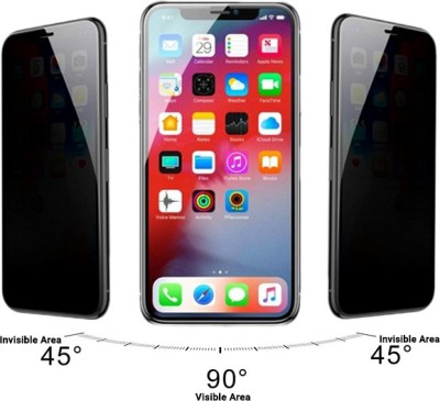 Baseus Screen Guard for Full Screen 9H Hardness Anti-Peeping Anti-Spy Privacy Screen Glass Protector (0.23mm) Compatible With iPhone X/Xs - Black(Pack of 1)