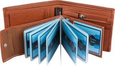 Men Casual, Formal Tan Artificial Leather Wallet