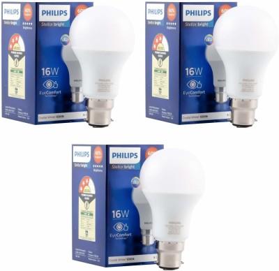 Philips 16 W Standard B22 LED Bulb  (White, Pack of 3)