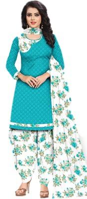 Sastvik Crepe Printed, Checkered Salwar Suit Material(Unstitched)