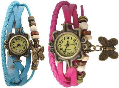 swiss lead Combo Watch For WomenDORII_SKY-BLUE_PINK Analog Watch  - For Girls
