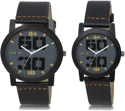 LOREM FZ 47_251 Couple Watches With Round Casual Look Men & Women Analog Watch  - For Couple