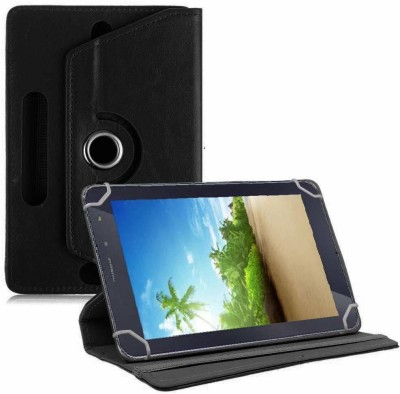 TGK Book Cover for iBall Slide 4GE Mania 7 inch Universal Rotating Case(Black, Cases with Holder)