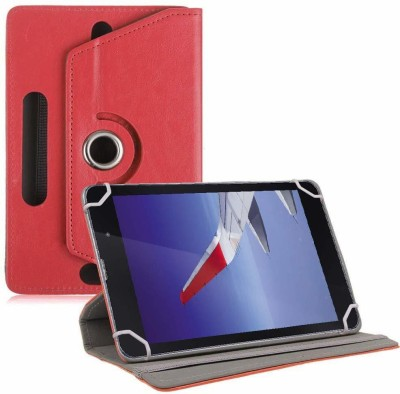 TGK Book Cover for iBall Slide Wings 4GP 8 inch Universal Rotating Case(Red, Cases with Holder)