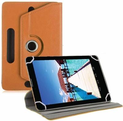 TGK Book Cover for Datawind Ubislate 7sc Star 7 inch Tablet Universal Rotating Case(Orange, Cases with Holder)