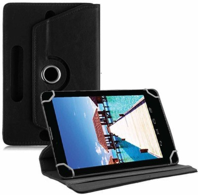 TGK Book Cover for Datawind Ubislate 7sc Star 7 inch Tablet Universal Rotating Case(Blue, Cases with Holder)