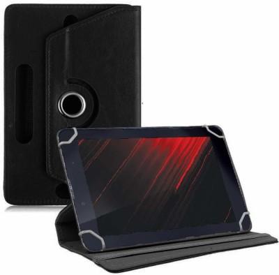 TGK Book Cover for iBall Slide Enzo V8 7 inch Universal Rotating Case(Black, Cases with Holder)