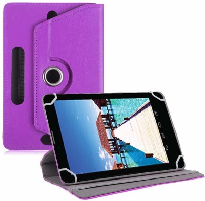 TGK Book Cover for Datawind Ubislate 7sc Star 7 inch Tablet Universal Rotating Case(Purple, Cases with Holder)