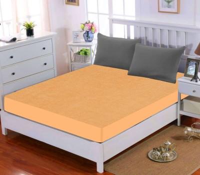 Dream Care Elastic Strap Queen Size Waterproof Mattress Protector(Gold)