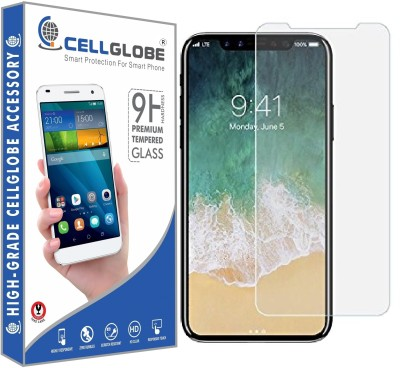 cellglobe Edge To Edge Tempered Glass for Apple iPhone X(Pack of 1)