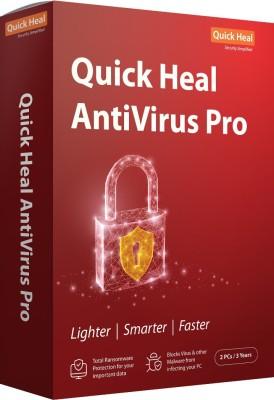 Quick Heal Anti-virus 2 User 3 Years(CD/DVD)