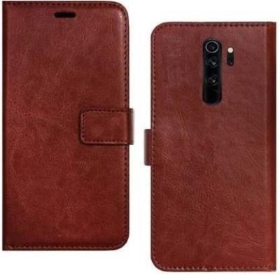 ZOLIAXO Flip Cover for MI Redmi Note 8 Pro, Plain, Case, Cover(Brown, Cases with Holder)