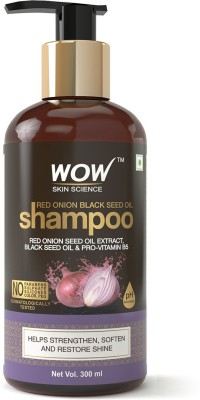 WOW Skin Science Red Onion Black Seed Oil Shampoo with Red Onion Seed Oil Extract(300 ml)