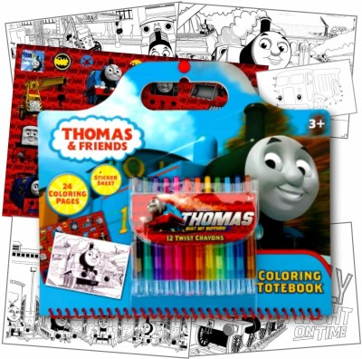 Thomas & Friends Thomas The Train Art Activity Set With Coloring Book Pages, Stick